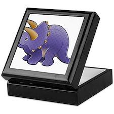 Purple Triceratops Dinosaur Keepsake Box