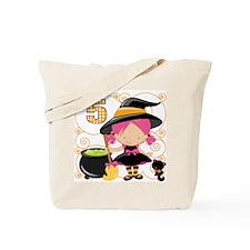Girls 5 Halloween Tote Bag