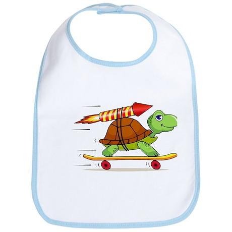 Rocket Propelled Tortoise Bib
