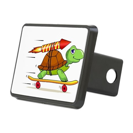 Rocket Propelled Tortoise Rectangular Hitch Cover