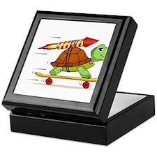 Rocket Propelled Tortoise Keepsake Box