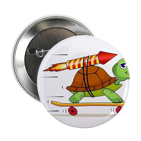 "Rocket Propelled Tortoise 2.25"" Button"