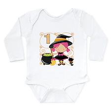 Girls Halloween 1 Long Sleeve Infant Bodysuit
