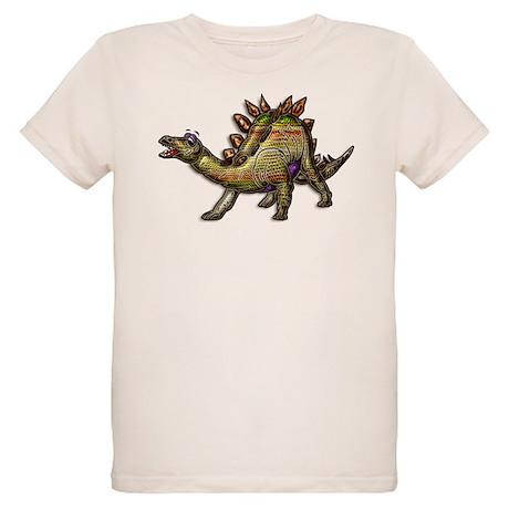 Scaly Rainbow Dinosaur Organic Kids T-Shirt
