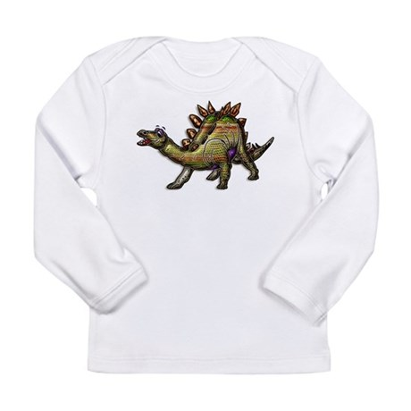 Scaly Rainbow Dinosaur Long Sleeve Infant T-Shirt