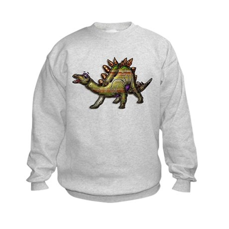 Scaly Rainbow Dinosaur Kids Sweatshirt