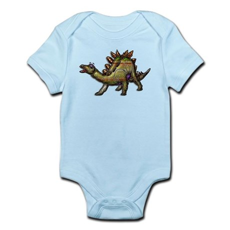 Scaly Rainbow Dinosaur Infant Bodysuit