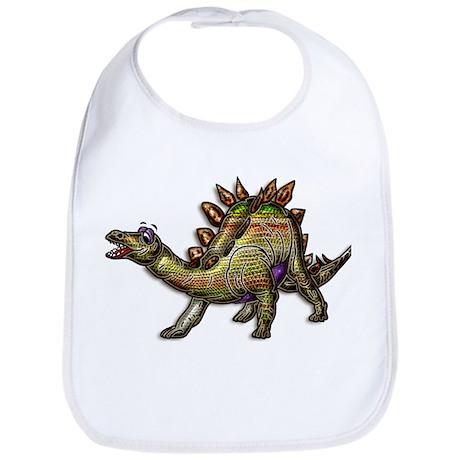 Scaly Rainbow Dinosaur Bib