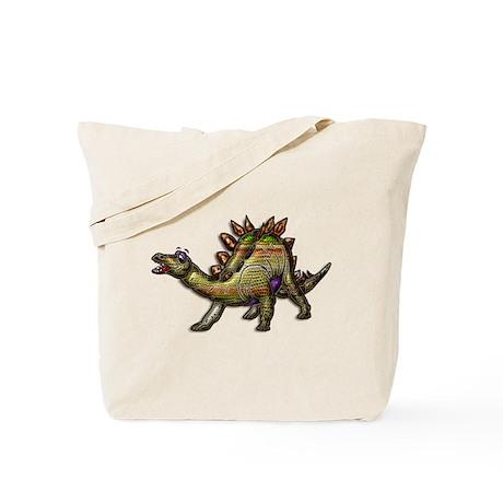 Scaly Rainbow Dinosaur Tote Bag