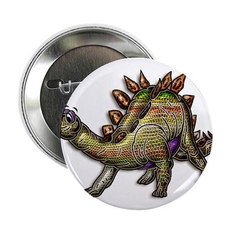 """Scaly Rainbow Dinosaur 2.25"""" Button"""