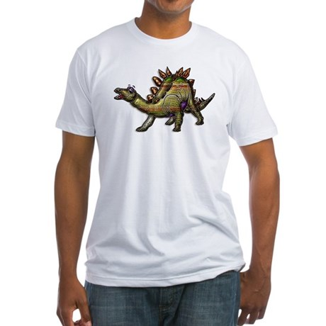 Scaly Rainbow Dinosaur Fitted T-Shirt