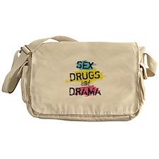 Sex Drugs And Drama Messenger Bag