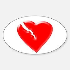 Broken Heart Sticker (Oval)