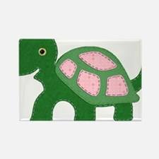 Tiny Pink Girl Turtle Rectangle Magnet