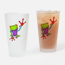 Waving Poison Dart Frog Drinking Glass
