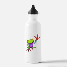 Waving Poison Dart Frog Water Bottle