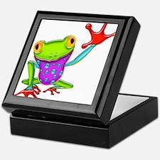 Waving Poison Dart Frog Keepsake Box