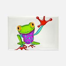 Waving Poison Dart Frog Rectangle Magnet