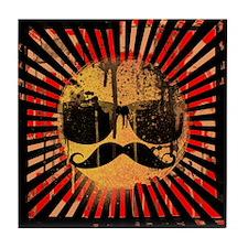 Hipster Sunshine (black ground) Tile Coaster