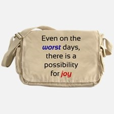 Possibility For Joy Messenger Bag