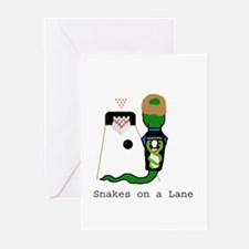 Snakes on a Lane Greeting Cards (Pk of 10)