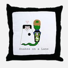 Snakes on a Lane Throw Pillow