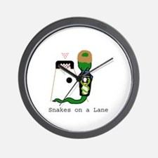 Snakes on a Lane Wall Clock