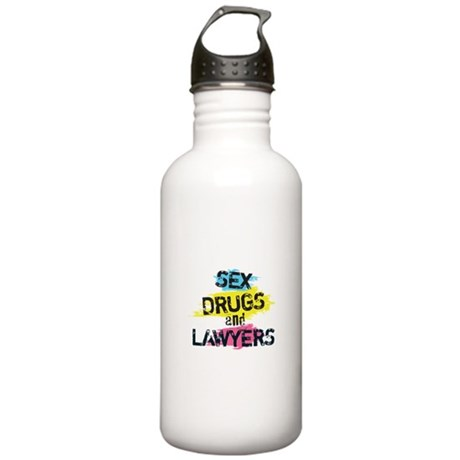 Sex Drugs And Lawyers Stainless Water Bottle 1.0L