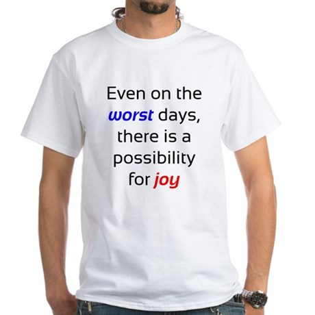 Possibility For Joy White T-Shirt