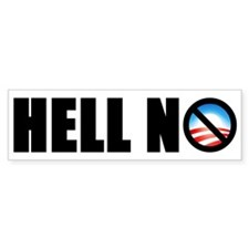 """Hell No!"" Bumper Bumper Sticker"