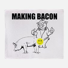 Making bacon Throw Blanket