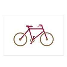 Red and Dark Gold Cycling Postcards (Package of 8)