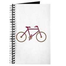 Red and Dark Gold Cycling Journal