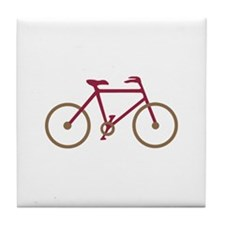 Red and Dark Gold Cycling Tile Coaster
