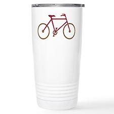 Red and Dark Gold Cycling Travel Mug