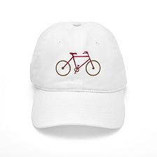Red and Dark Gold Cycling Baseball Cap