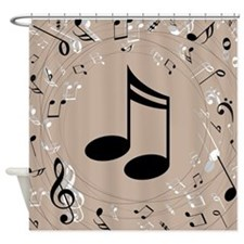 Music Gift For Teacher or Musician Shower Curtain