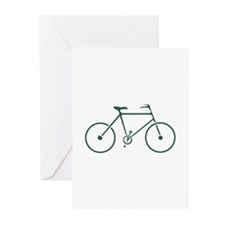 Green and White Cycling Greeting Cards (Pk of 20)