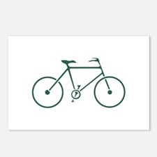 Green and White Cycling Postcards (Package of 8)