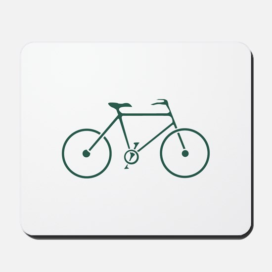 Green and White Cycling Mousepad