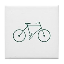 Green and White Cycling Tile Coaster
