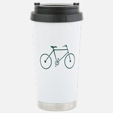 Green and White Cycling Stainless Steel Travel Mug