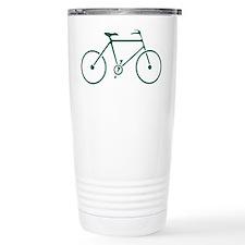 Green and White Cycling Travel Mug