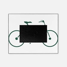Green and White Cycling Picture Frame