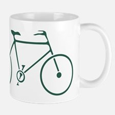 Green and White Cycling Mug