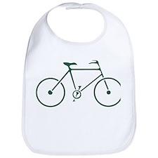 Green and White Cycling Bib