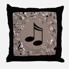 Music Gift For Teacher or Musician Throw Pillow
