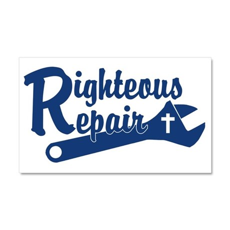 Righteous Repair Car Magnet 20 x 12