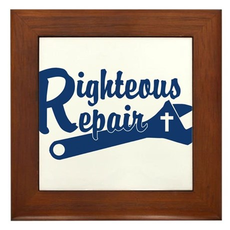 Righteous Repair Framed Tile