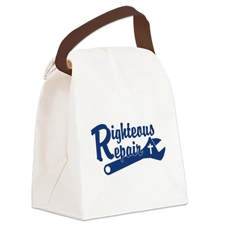 Righteous Repair Canvas Lunch Bag